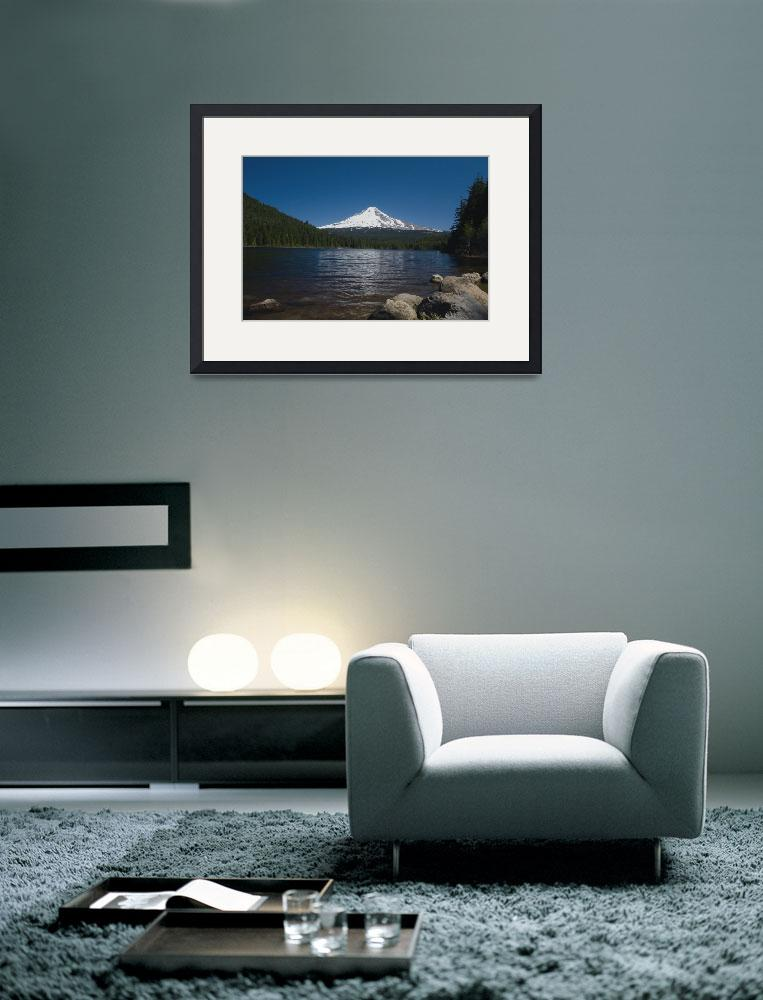 """Mt Hood from Trillium Lake&quot  (2008) by aphimages"