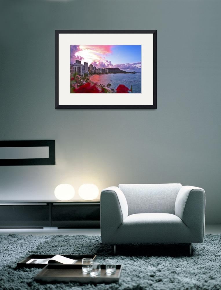 """Waikiki dawn&quot  (2004) by tomasdelamo"