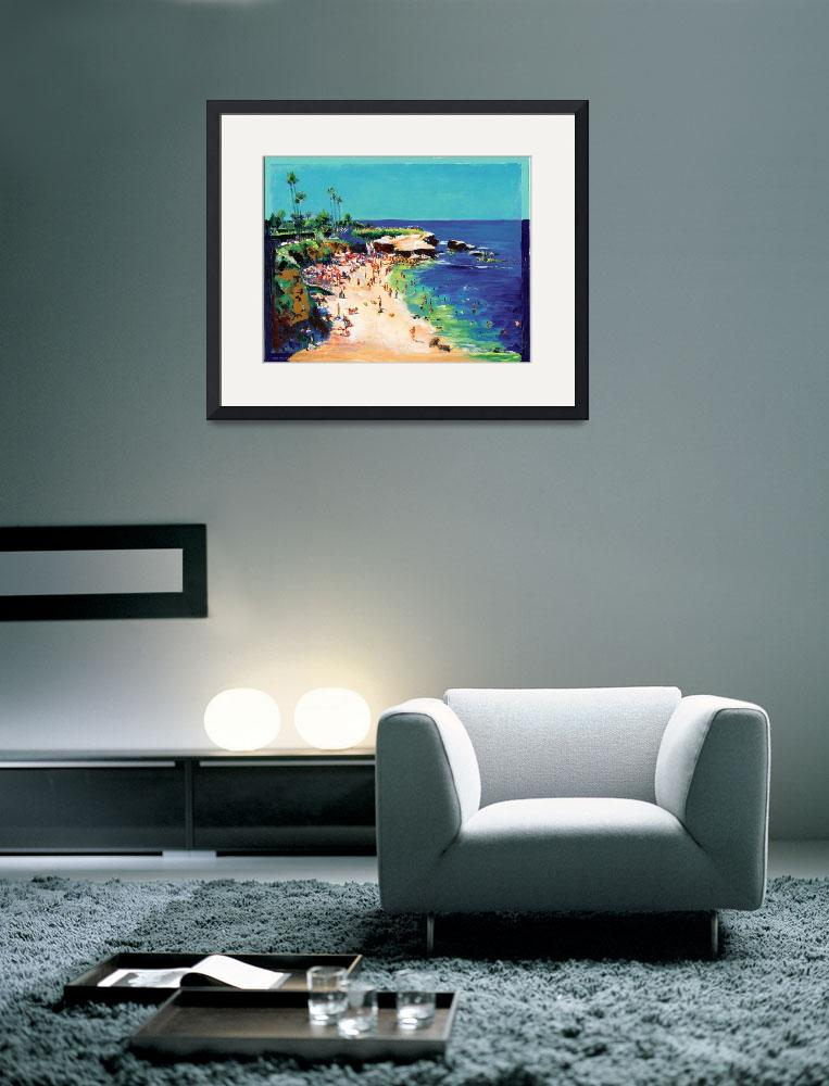 """Calm Sea, La Jolla Cove by RD Riccoboni&quot  by BeaconArtWorksCorporation"
