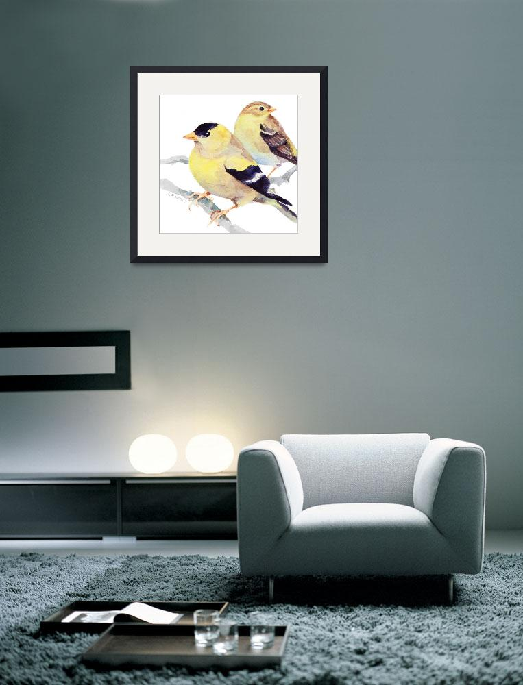 """Goldfinches&quot  (2009) by SharonRMorgio"