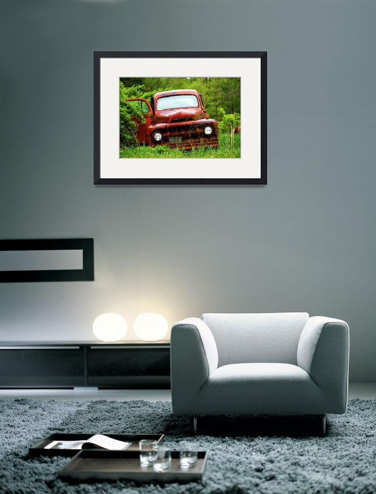 """Red Truck&quot  (2009) by heathermuro"