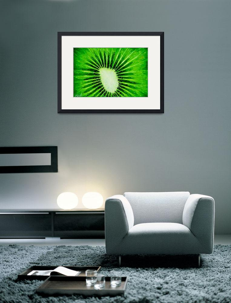 """""Kiwi Explosion"" original acrylic painting&quot  (2008) by marnold"
