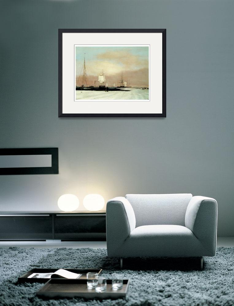"""Boston Harbor by John Blunt&quot  by ArtLoversOnline"