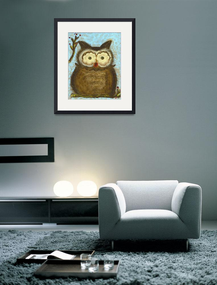 """Owl Winterberry&quot  (2012) by TH_TatteredBrush"