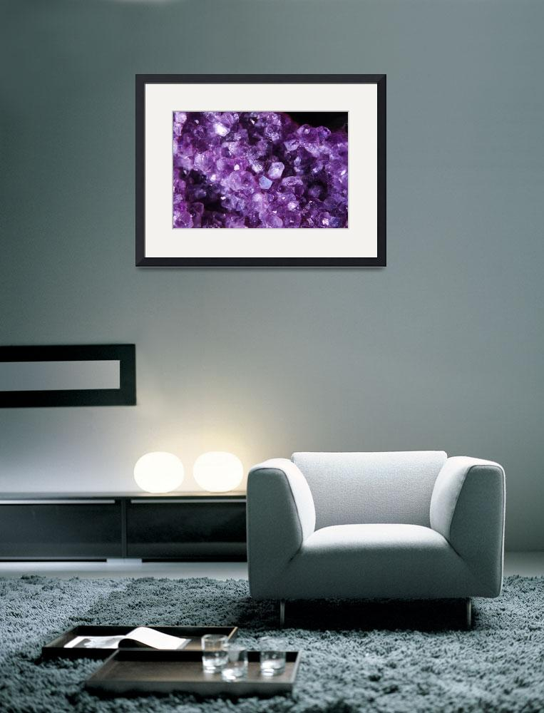 """Purple Crystals&quot  (2010) by ART4YOUR2EYES"