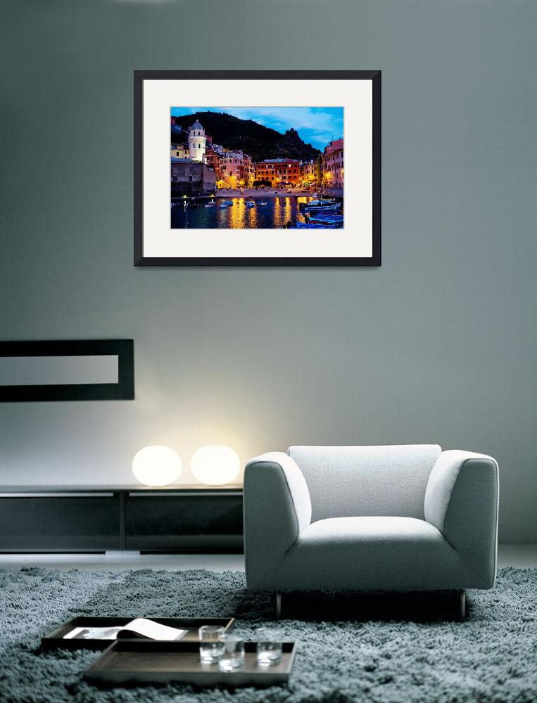 """Vernazza Lights&quot  by WillyDaleArt"