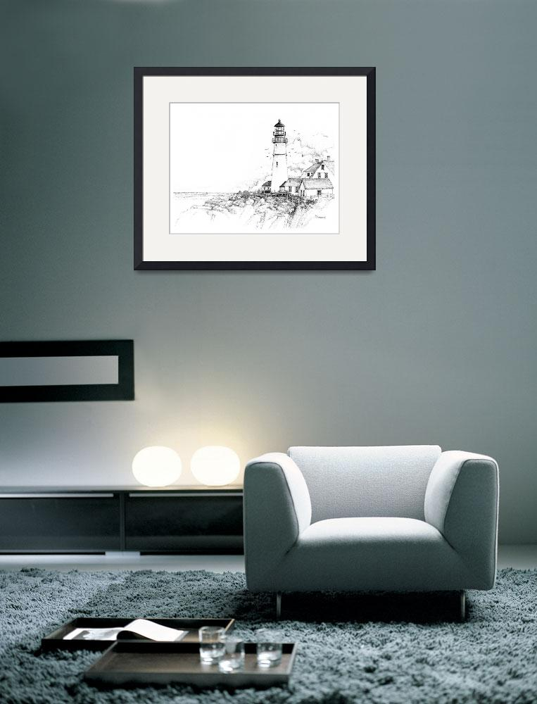 """Portland Head Lighthouse&quot  (2008) by Ryandesign"
