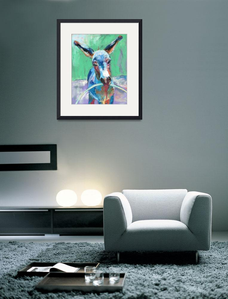 """Donkey playing with hoop&quot  (2015) by lindbladstudios"