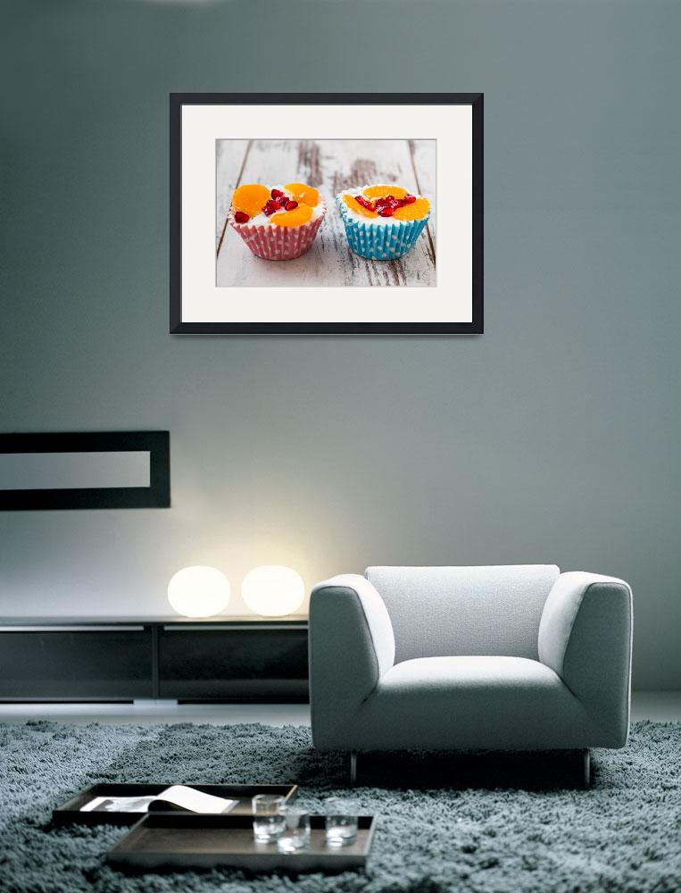 """Cupcakes in blue and pink paper cupcake holders&quot  (2014) by sebnemkoken"