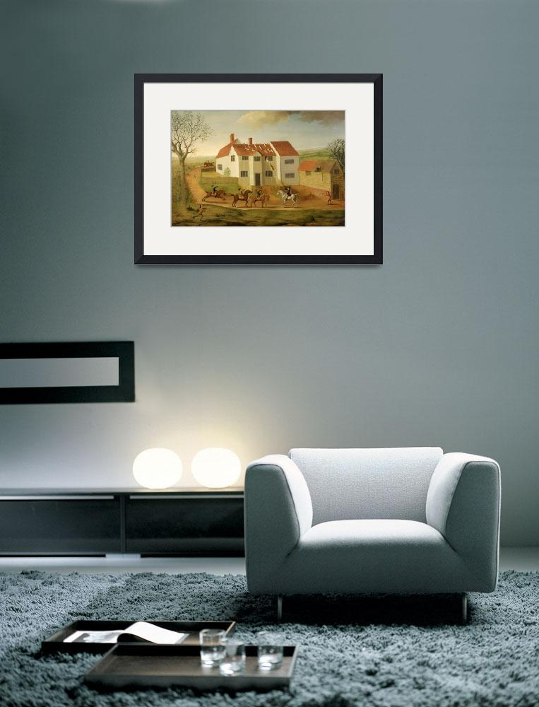 """John Sidey and his Hounds at a Farmhouse&quot  by fineartmasters"