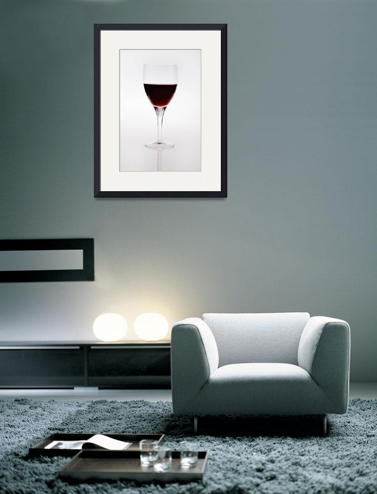 """A Wine Glass With Red Wine&quot  by DesignPics"