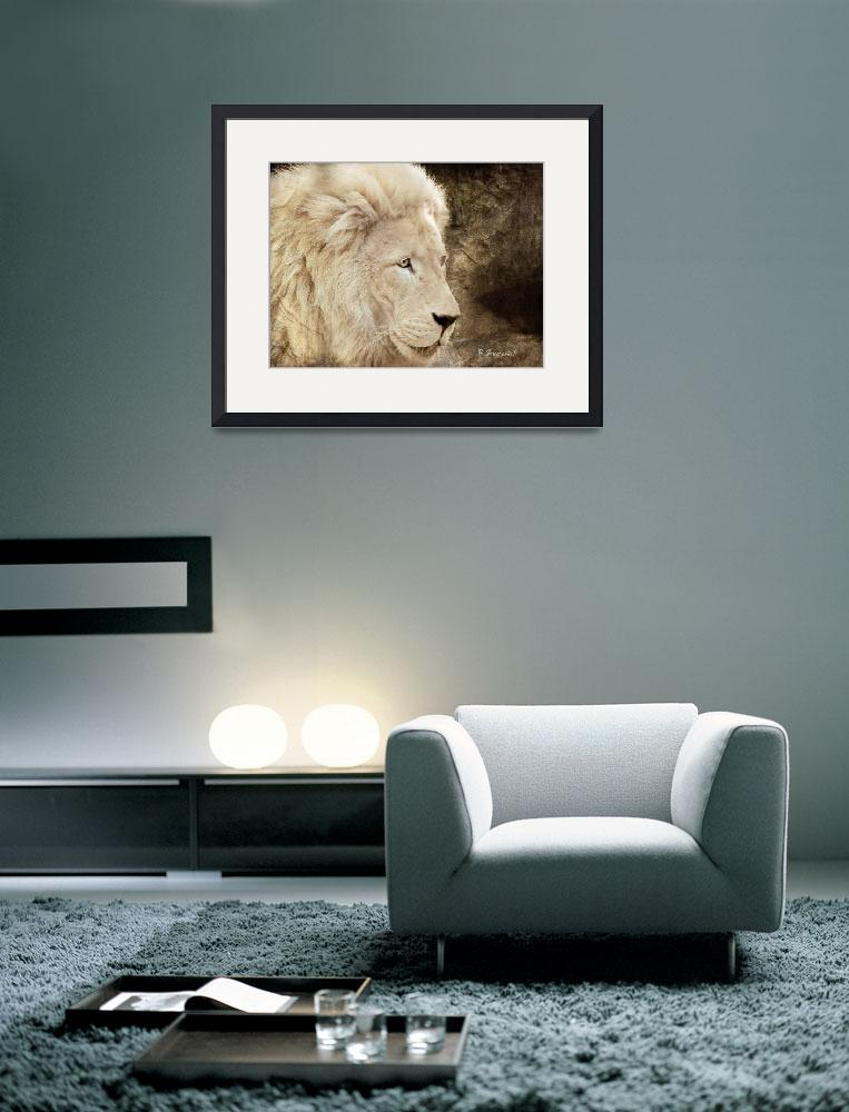 """Portrait Of A White Lion&quot  (2010) by BarbaraZuz"