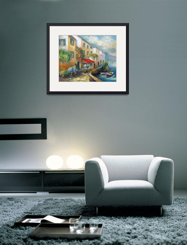 """Italian  Street bt the Sea&quot  (2009) by Unique_designs"