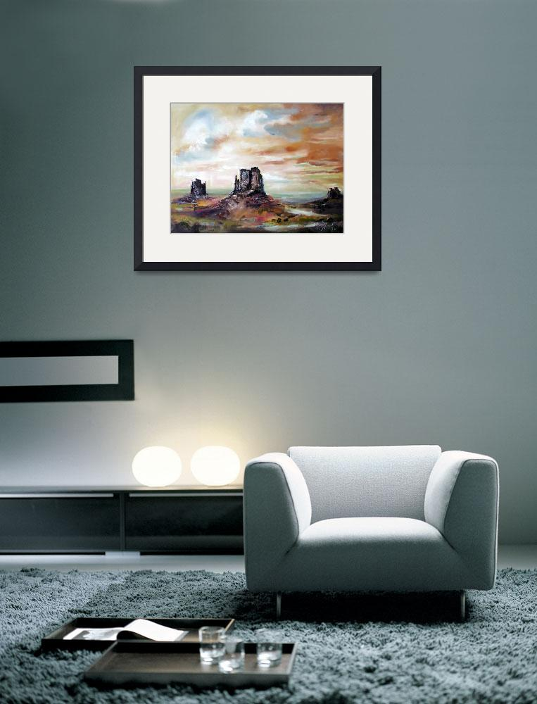 """Monument Valley Oil Painting by Ginette&quot  (2009) by GinetteCallaway"