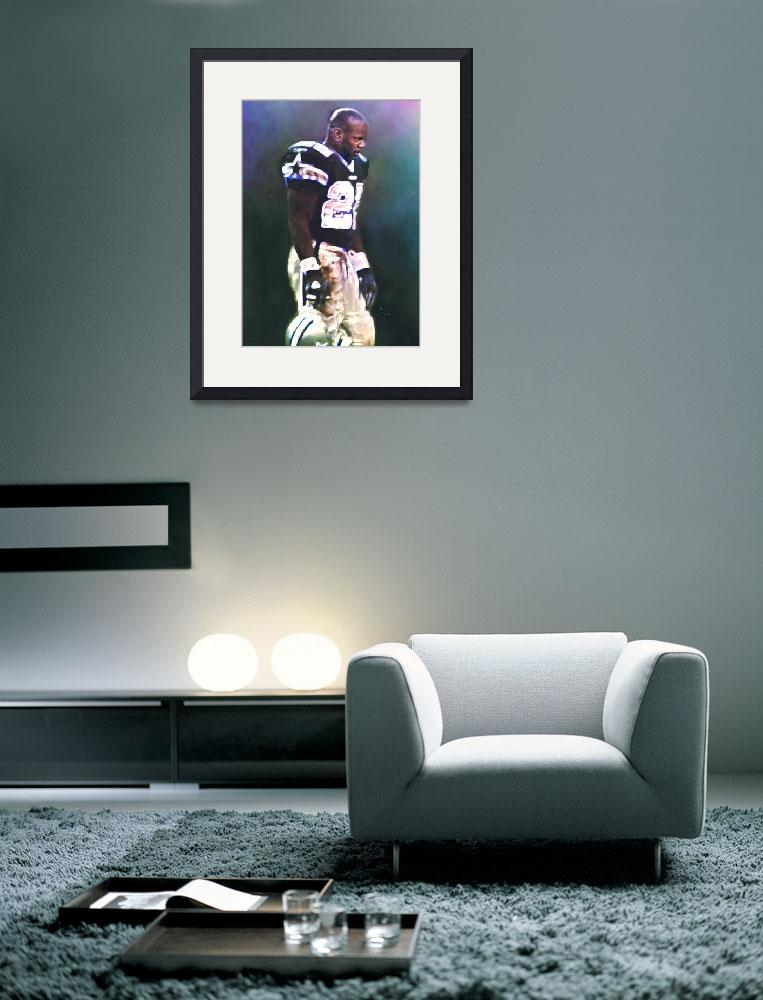 """Emmitt Smith, Dallas Cowboys, NFL Art&quot  (2011) by artofvela"