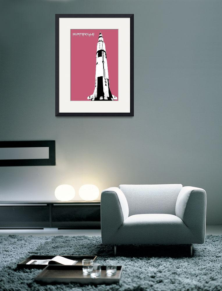 """Huntsville Saturn V Threshold Poster Pink&quot  by kFergPhotos"