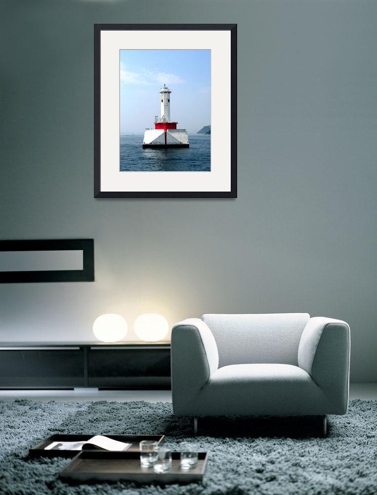 """Mackinaw Lighthouse&quot  (2005) by A-Moment-In-Time"