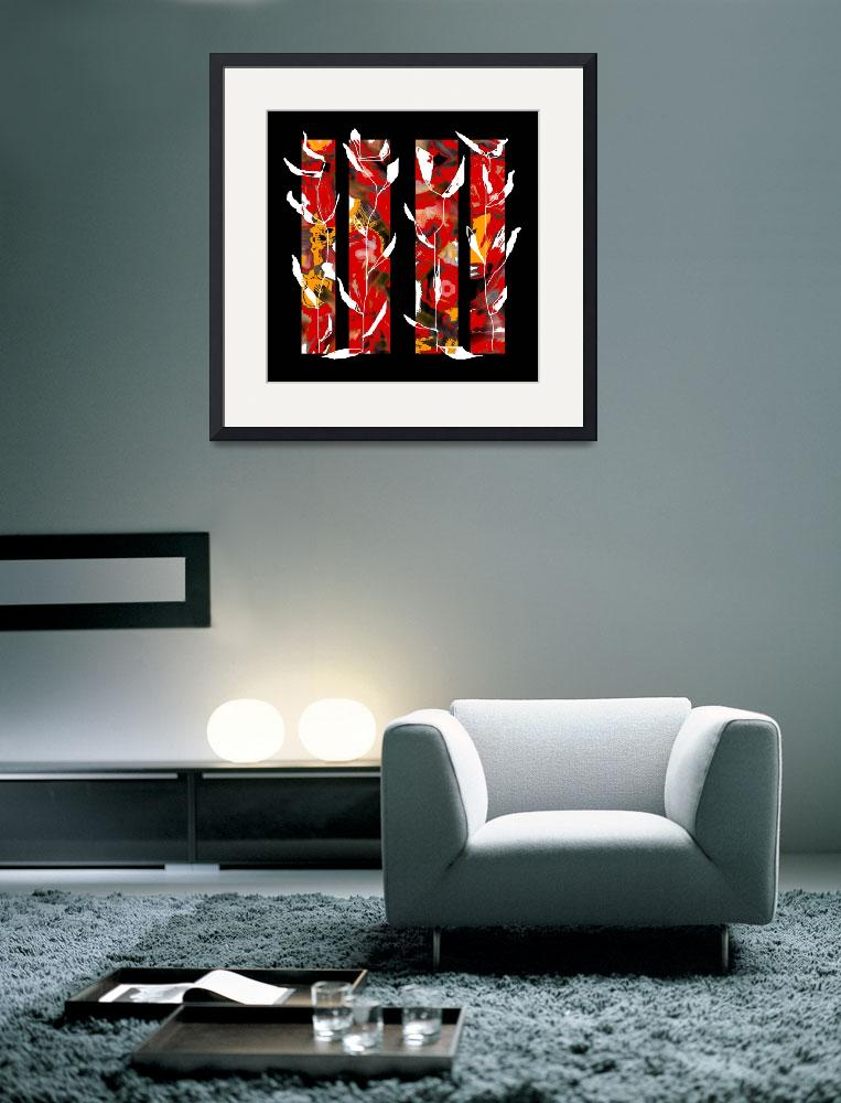 """abstract-red-black-panels2&quot  (2008) by shanmaree"