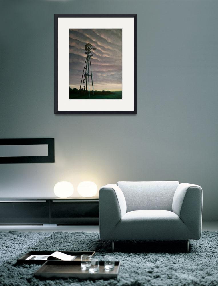 """Windmill at Dusk&quot  (2011) by arteest"