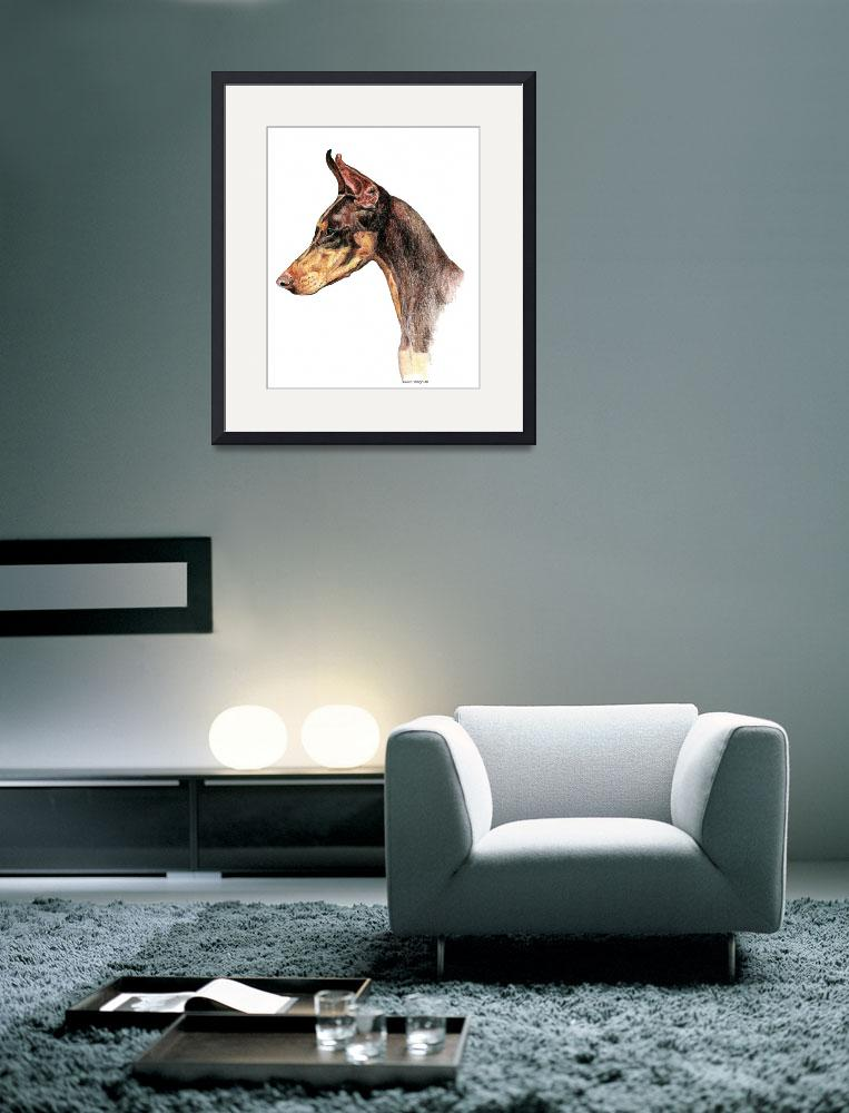 """Doberman Pinscher Dobie Dog&quot  (2000) by KathleenSepulveda"