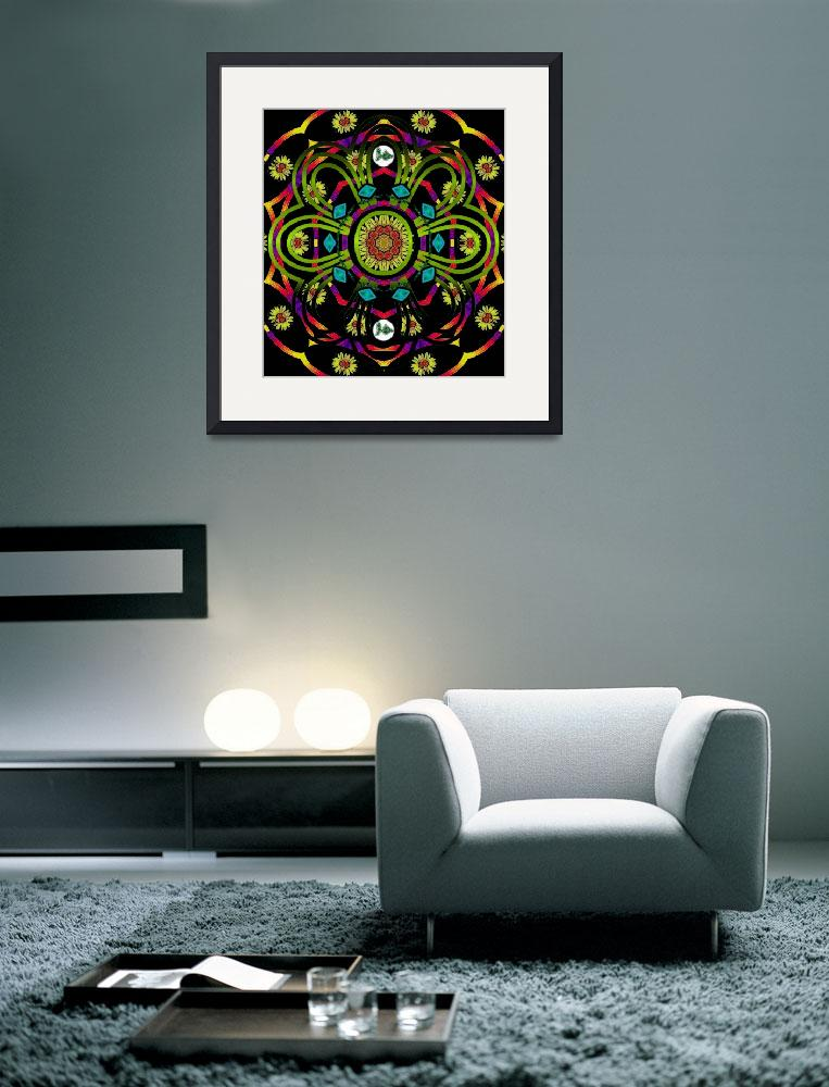 """Hippie Mandala&quot  (2013) by PepitaSelles"