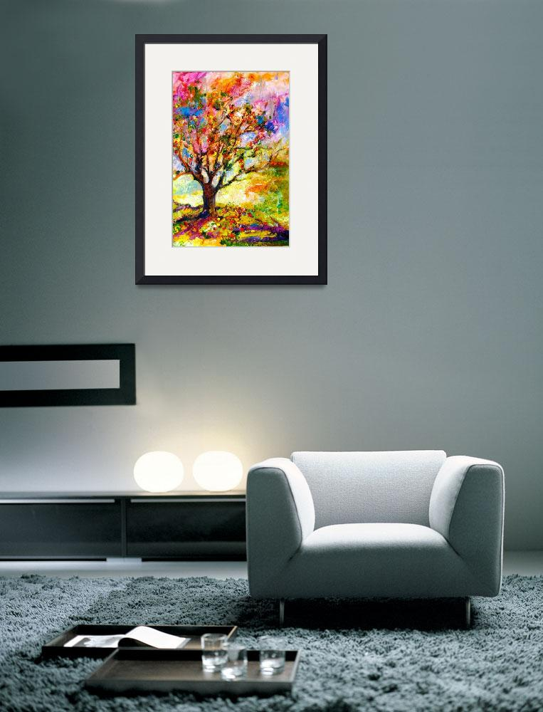 """Abstract Grandmas Apple Tree by Ginette&quot  (2012) by GinetteCallaway"