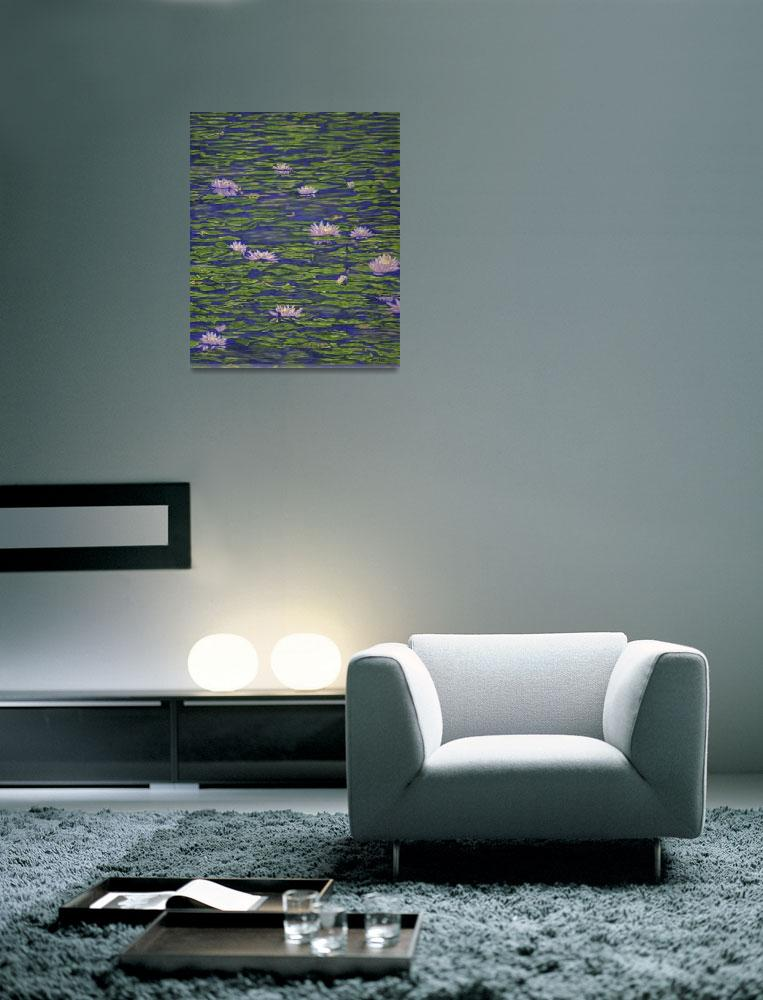 """Fine Art Prints Water Lilies Lily Art Pond Flowers&quot  (2008) by BasleeTroutman"