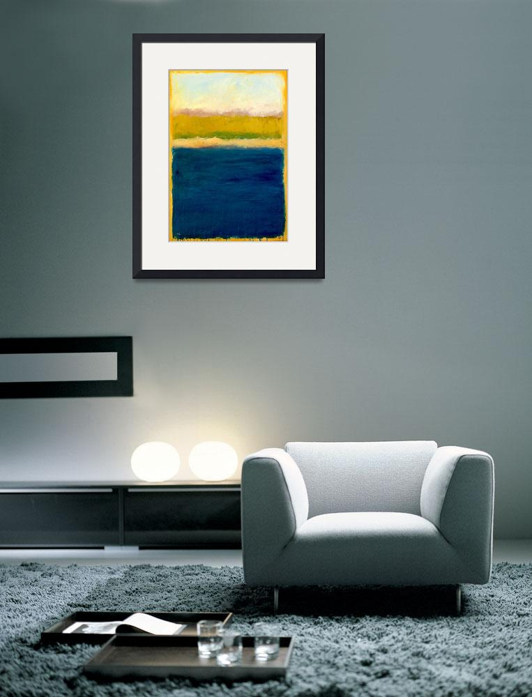 """Lake Michigan Abstract with Blue and Gold&quot  (2008) by Michelle1991"
