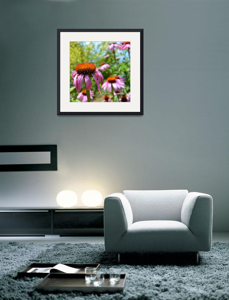 """Purple Coneflowers Inspirations&quot  (2011) by PatriciaSanders"