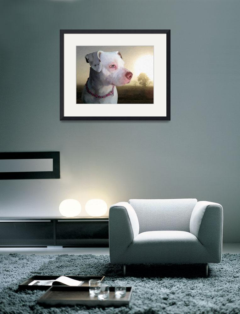 """Bull Terrier a Dawn&quot  (2010) by ModernArtPrints"