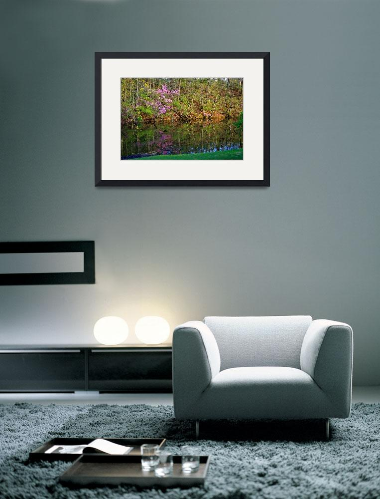 """Trees by Pond in Spring&quot  (2012) by KsWorldArt"