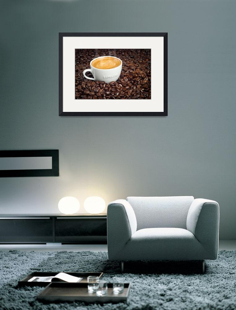 """Cup of Morning Espresso in Dark Roasted Coffee Bea&quot  (2009) by DAPhoto"