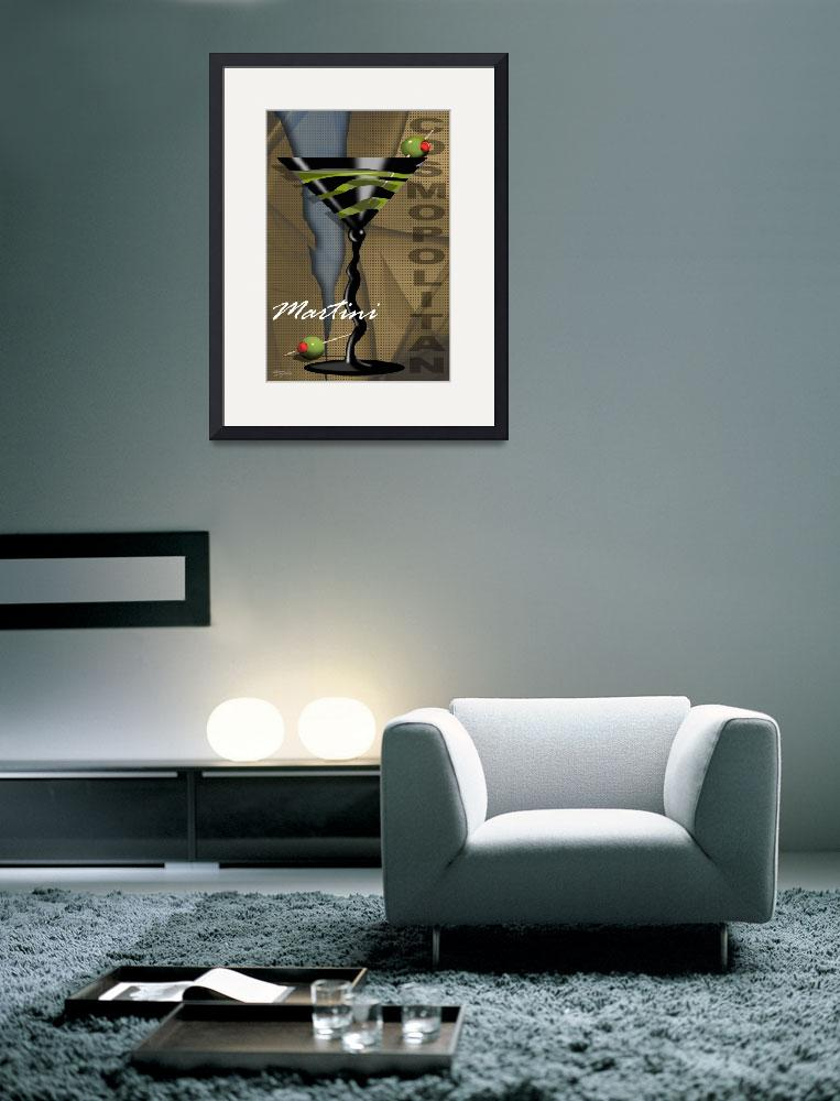 """Sexy Art Deco Martini with olives&quot  (2009) by CherylDaniels"