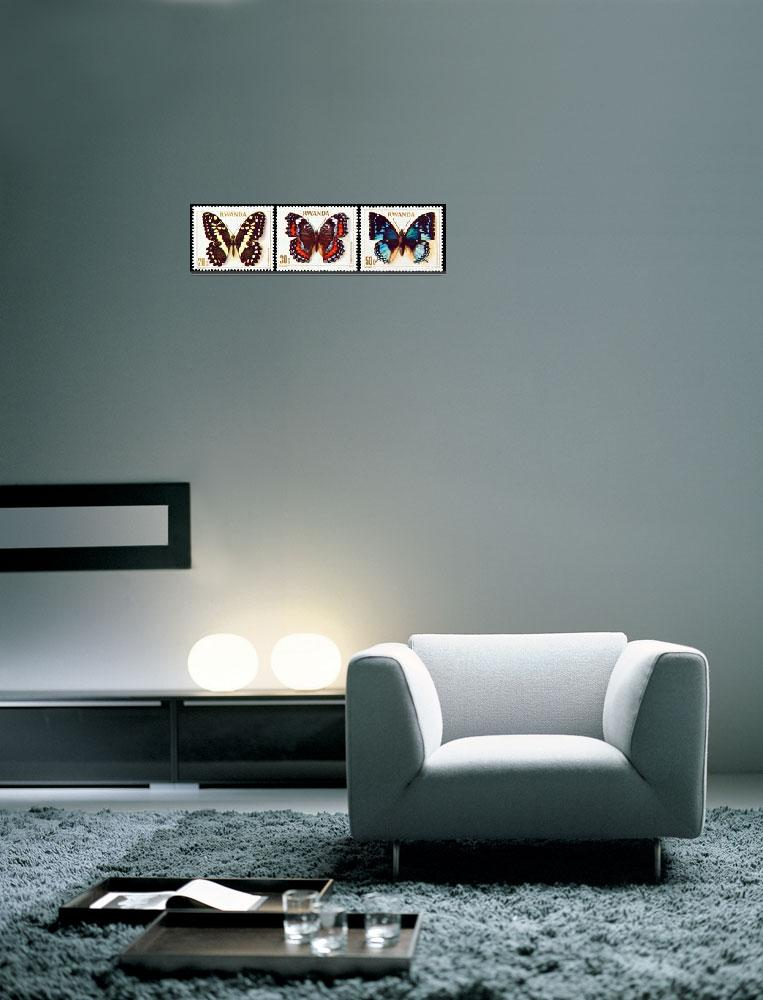 """Collection of butterflies stamps.&quot  by FernandoBarozza"