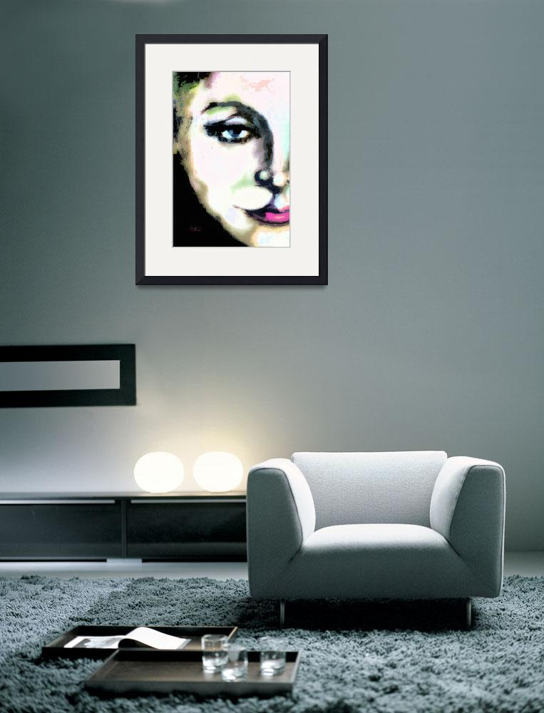 """Greta Garbo Macro Modern Art Painting by Ginette&quot  (2013) by GinetteCallaway"