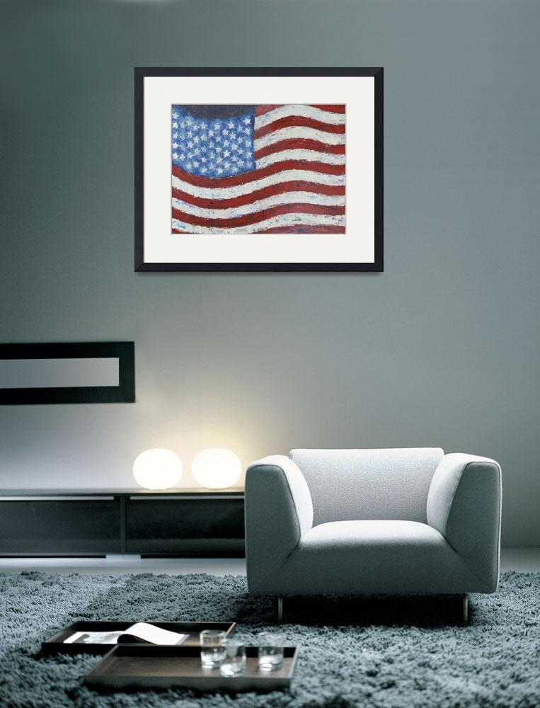 """Abstract American Flag&quot  by waynecantrell"