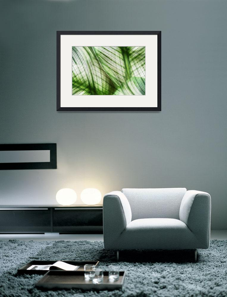 """Nature Leaves Abstract in Green&quot  (2012) by NatalieKinnear"