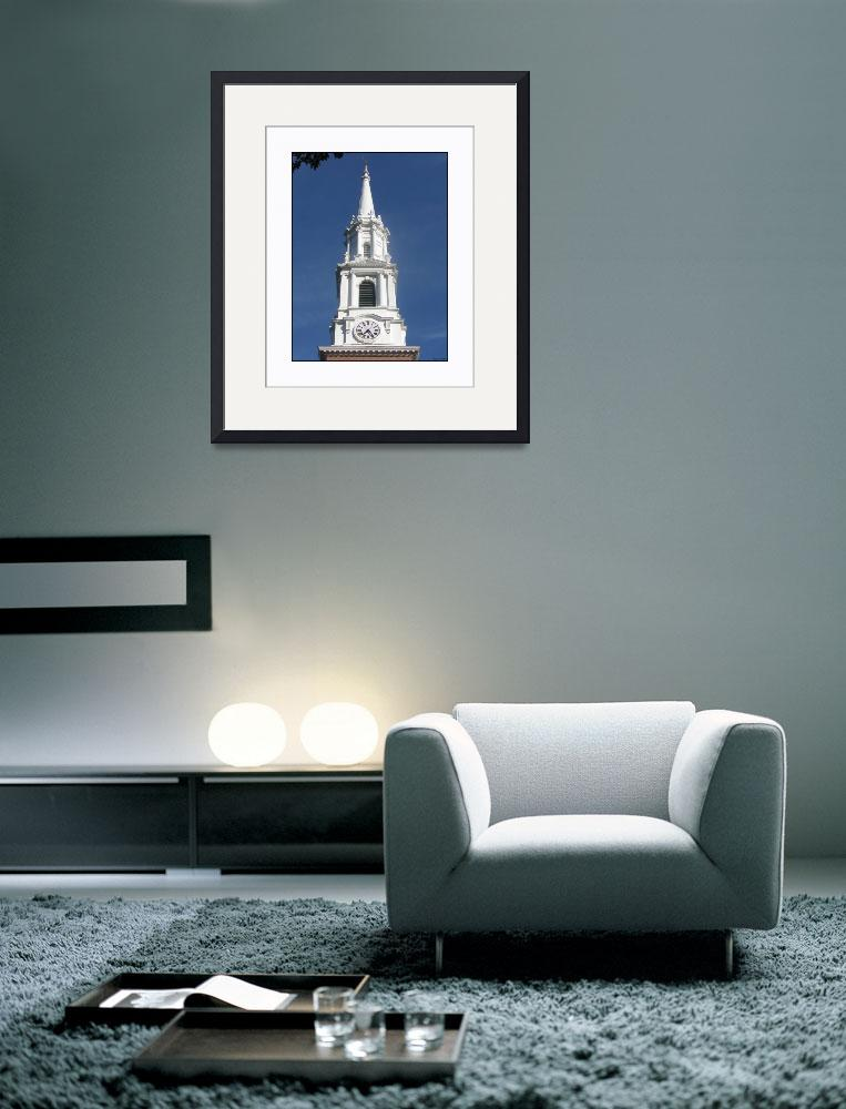 """Yale White Church Steeple&quot  (2010) by CuriousEye"