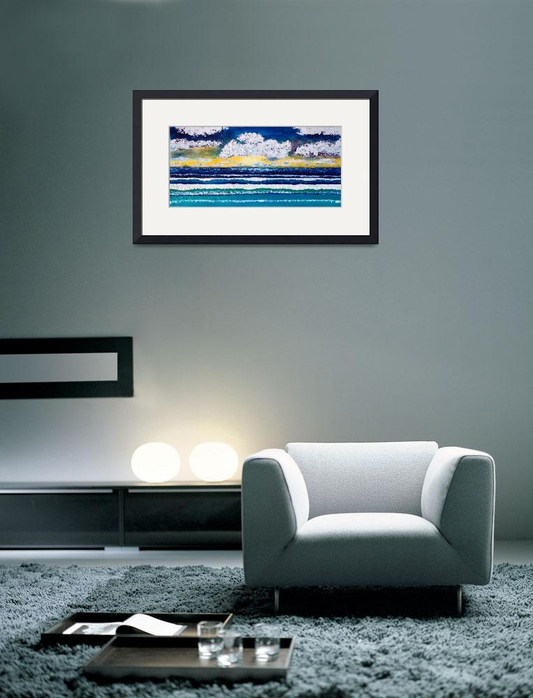 """Sunrise Seascape Cloudy Night C2&quot  (2015) by Ricardos"