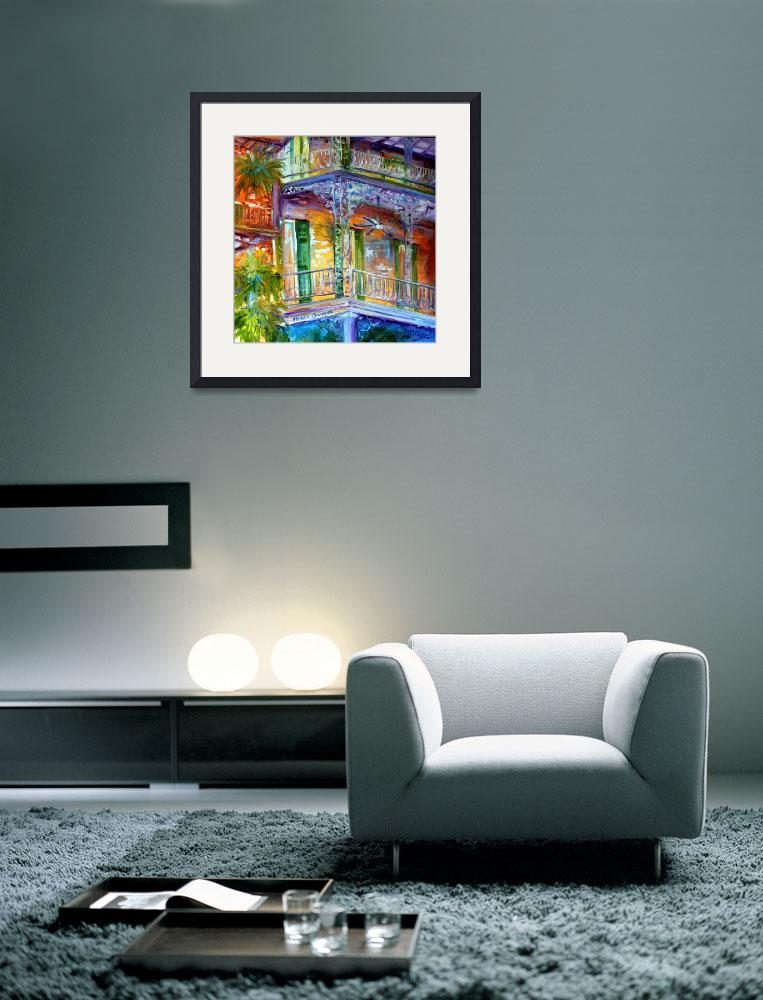 """FRENCH QUARTER CITYSCAPE 20&quot  (2010) by MBaldwinFineArt2006"