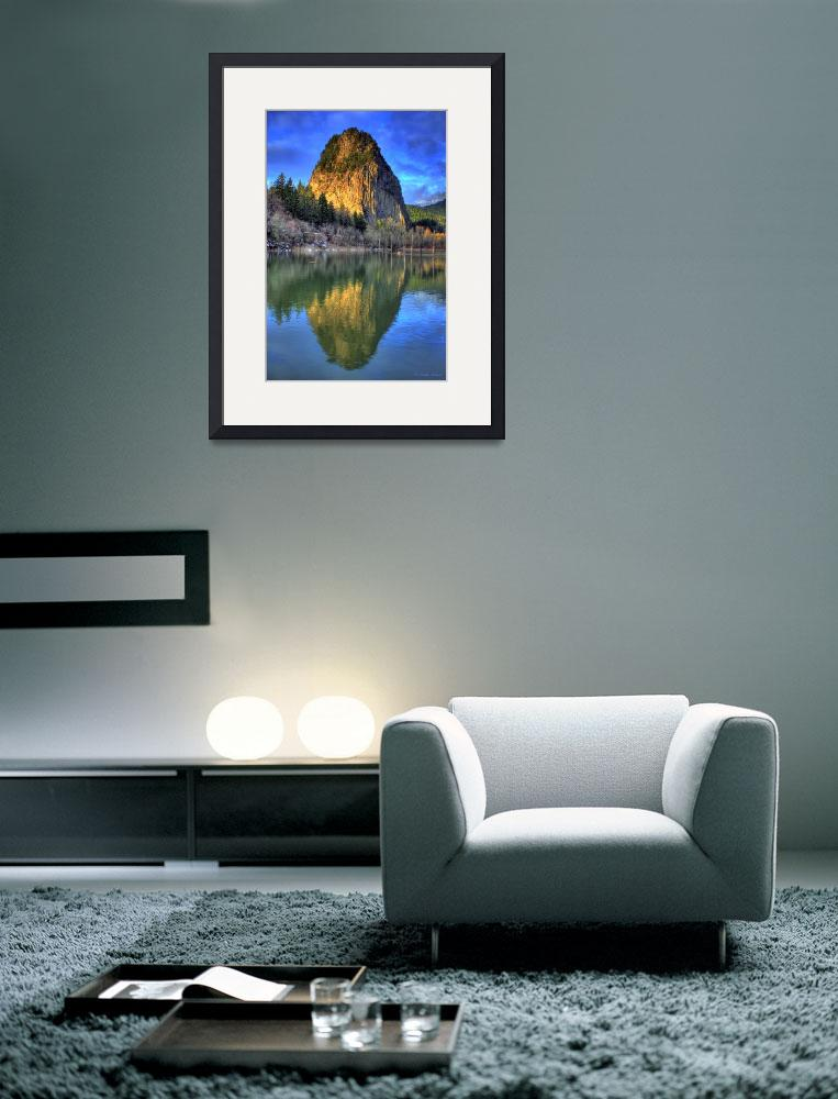 """0023 Beacon Rock Reflections&quot  (2009) by vincentlouis"