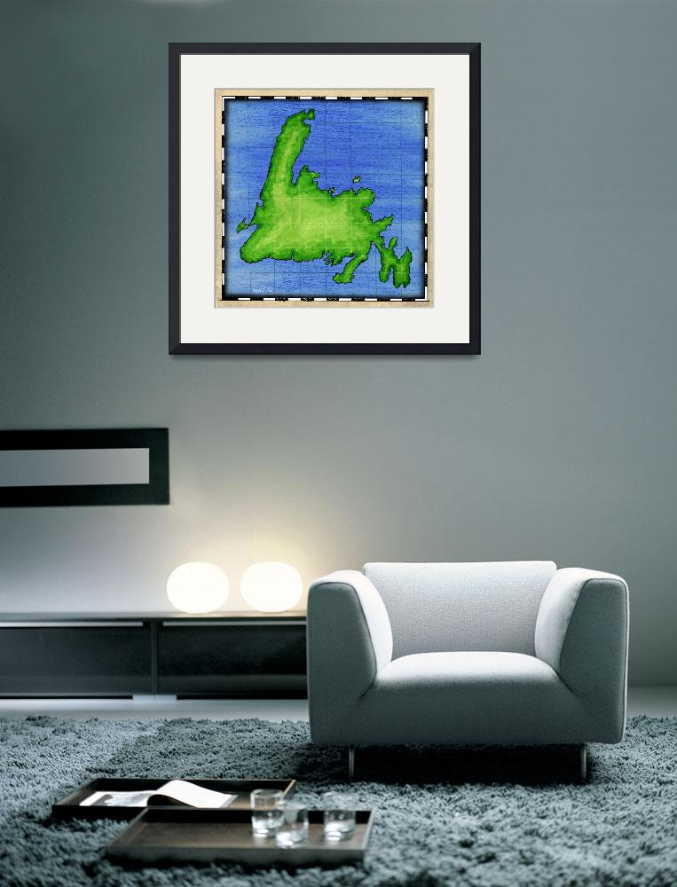 """Newfoundland Map&quot  (2004) by howyadoin"