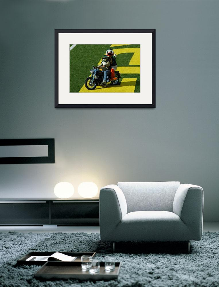 """Oregon Duck on Harley&quot  (2010) by netbrands"