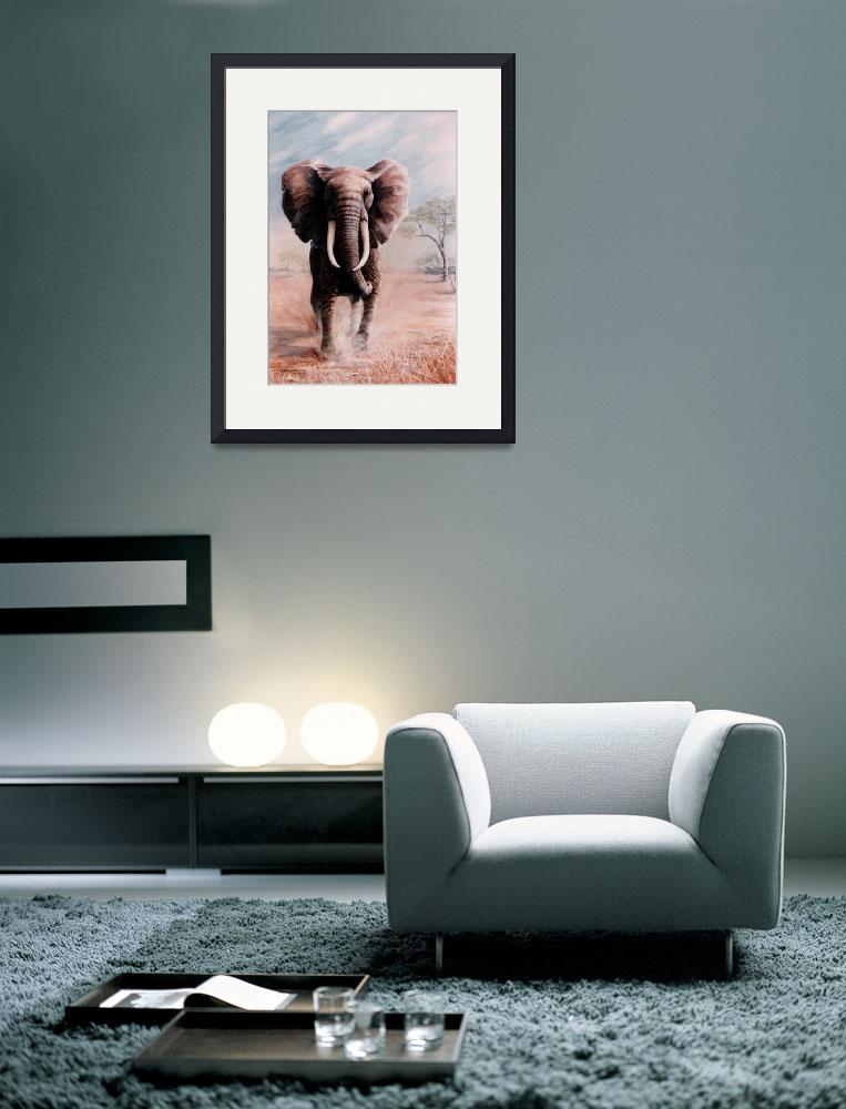 """African Elephant painting&quot  by AnimalsbyDiDi"