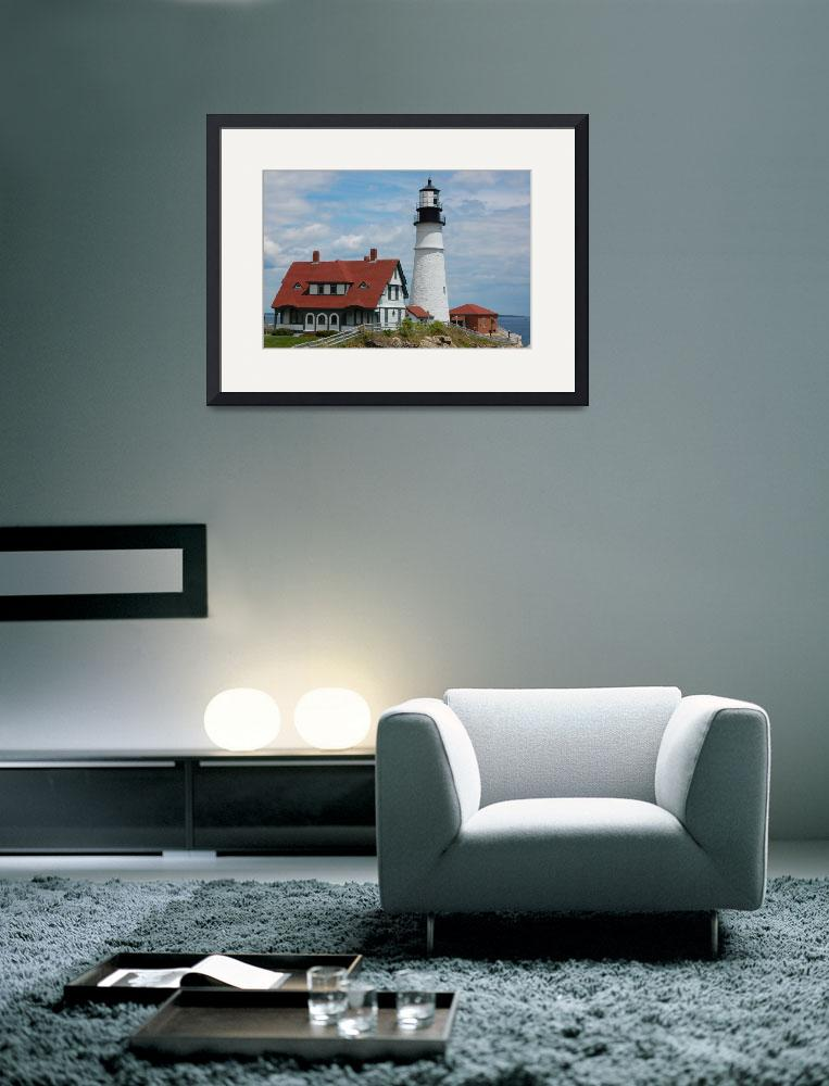 """Classic Light House, Cape Elizabeth, Maine&quot  (2008) by NinoModugno"