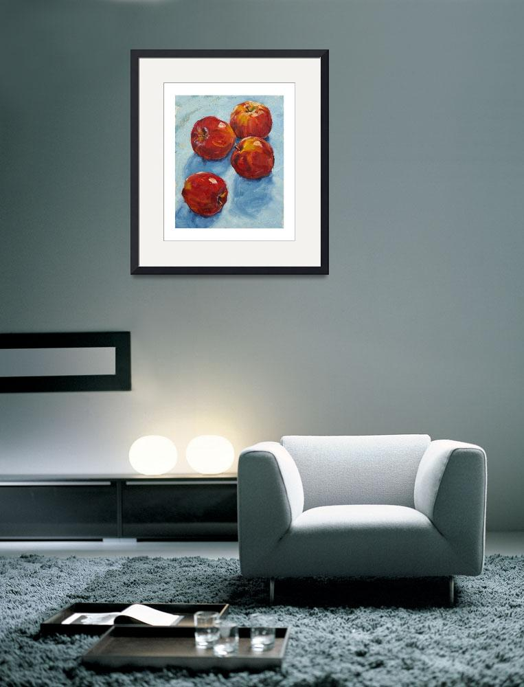 """Apples on blue&quot  (2008) by davidwesterfield"