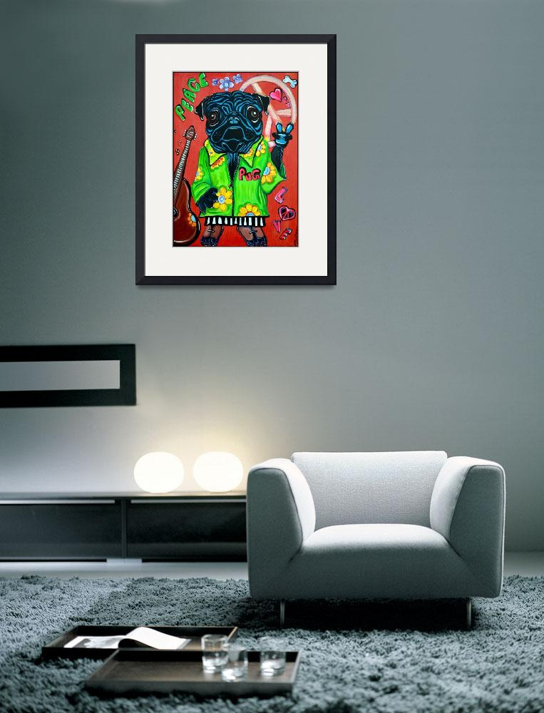 """Pugs Love Peace&quot  (2012) by ArtPrints"