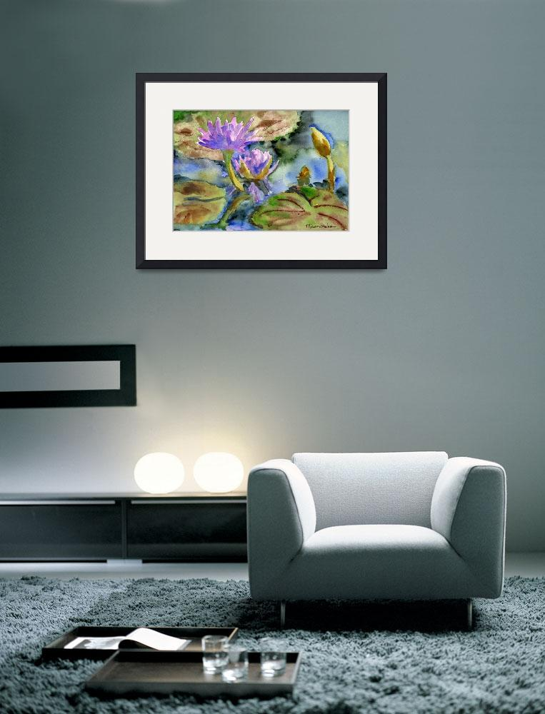 """Purple Lily Passion&quot  (2007) by schulmanart"