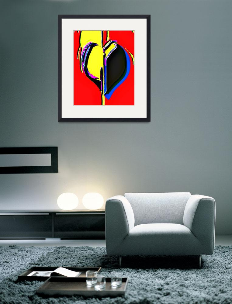 """Haitian Heart #3&quot  (2010) by ousseau-arts-designs"