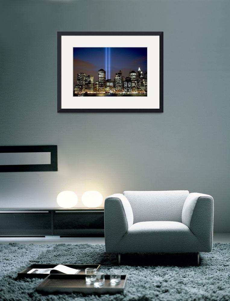 """Tribute in Light over New York City&quot  (2008) by New-Yorkled"